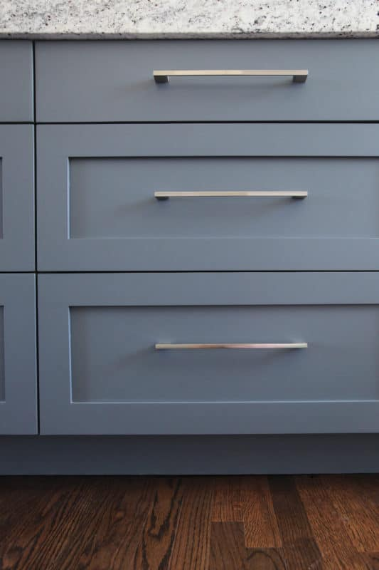 shaker style drawer cabinets in web grey